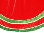 "72"" Red and Green Velvet Tree Skirt"