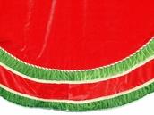 """72"""" Red and Green Velvet Tree Skirt"""