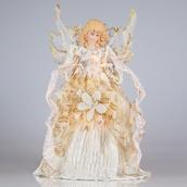 "14"" Ivory Angel Tree Topper"