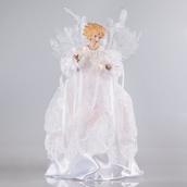 """14"""" White Angel Tree Topper"""