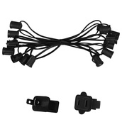 "25' C7 Commercial Light Stringer, SPT1 Black Wire, 12"" Spacing"