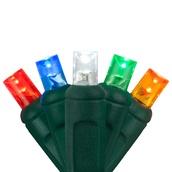 "70 5mm Multi Color LED Christmas Lights, 4"" Spacing"