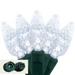 "Commercial 25 C6 Cool White LED String Lights, 4"" Spacing"