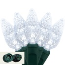 """Commercial 25 C6 Cool White LED String Lights, 4"""" Spacing"""