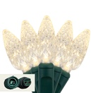 """Commercial 25 C6 Warm White LED String Lights, 4"""" Spacing"""