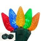 "Commercial 25 C6 Multi Color LED String Lights, 6"" Spacing"