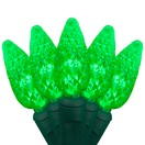 "70 C6 Green LED String Lights, 4"" Spacing"