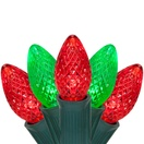 C7 Red / Green Commercial LED Christmas Lights