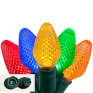 "Commercial 25 C7 Multi Color LED Christmas Lights, 12"" Spacing"