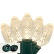 "Commercial 25 C7 Warm White LED Christmas Lights, 6"" Spacing"