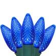 """25 C9 Blue LED Christmas Lights, 8"""" Spacing"""