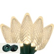 "Commercial 25 Warm White C9 LED Christmas Lights, 12"" Spacing"