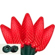 """Commercial 25 Red C9 LED Christmas Lights, 12"""" Spacing"""