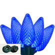 "Commercial 25 Sapphire Blue C9 LED Christmas Lights, 12"" Spacing"