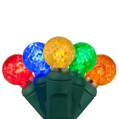 """70 G12 Multi Color LED String Lights, 4"""" Spacing"""