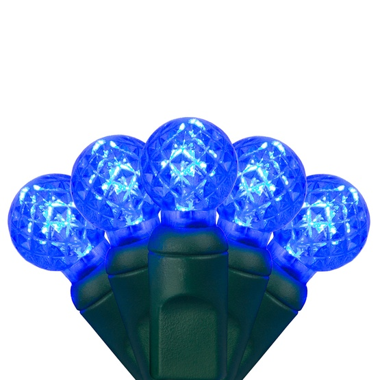 "70 G12 Blue LED String Lights, 4"" Spacing"