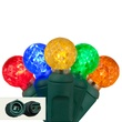 "Commercial 25 G12 Multi Color LED String Lights, 4"" Spacing"