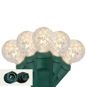 """Commercial 25 G12 Warm White LED String Lights, 4"""" Spacing"""