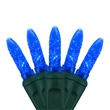 "70 M5 Blue LED Christmas Lights, 4"" Spacing"