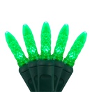 "70 M5 Green LED Christmas Lights, 4"" Spacing"