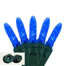 "Commercial 25 M5 Blue LED Christmas Lights, 4"" Spacing"