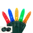 "Commercial 25 M5 Multi Color LED Christmas Lights, 4"" Spacing"