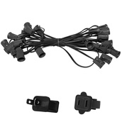 "25' C9 Commercial Light Stringer, SPT1 Black Wire, 12"" Spacing"