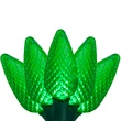 "25 C9 Green LED Christmas Lights, 8"" Spacing"