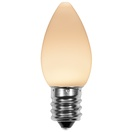 C7 Warm White Smooth OptiCore LED Christmas Light Bulbs