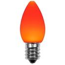 C7 Amber / Orange Smooth OptiCore LED Christmas Light Bulbs