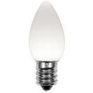 C7 Cool White Smooth OptiCore LED Christmas Light Bulbs