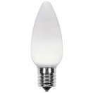 C9 Cool White Smooth OptiCore LED Christmas Light Bulbs