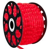 """150' Red LED Rope Light, 2 Wire 1/2"""", 120 Volt"""
