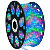 """150' Multicolor LED Rope Light, 2 Wire 1/2"""", 120 Volt"""