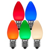 C7 Multicolor Smooth OptiCore LED Christmas Light Bulbs