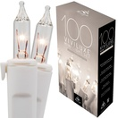 "100 Viviluxe Clear Christmas Mini Lights, 5.5"" Spacing, White Wire"