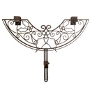 Decorative Wreath Hanger, Deco Holly, Brown Antique Metal, Adjustable