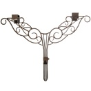 Decorative Wreath Hanger, Deco Antler, Brown Antique Metal, Adjustable