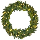 Fraser Fir Prelit LED Holiday Wreath, Warm White Lights