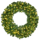 Olympia Pine Prelit Commercial LED Holiday Christmas Wreath, Warm White Lights
