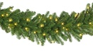 Olympia Pine Prelit Commercial LED Christmas Garland, Warm White Lights