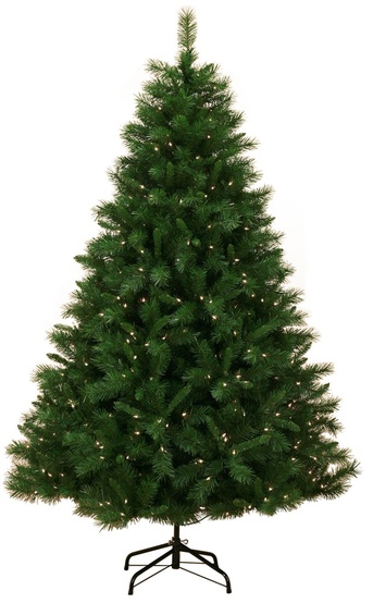 7.5' Pre-Lit Dunhill Fir LED Tree, 750 Warm White LED Lights
