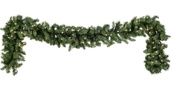 Douglas Fir Prelit Christmas Garland, Clear Lights
