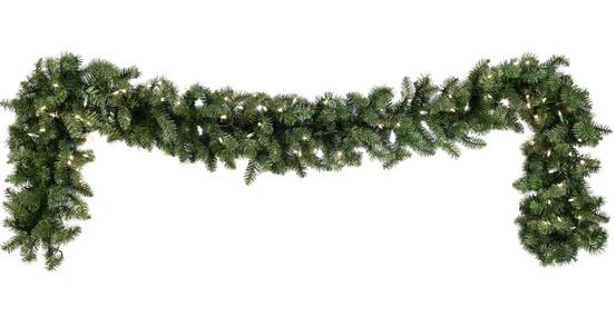 Douglas Fir Prelit Christmas Garland, Multicolor Lights