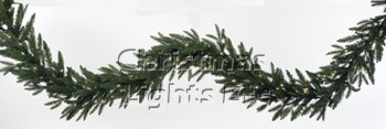 Carolina Fir Prelit Christmas Garland, Clear Lights