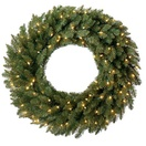 Douglas Fir Prelit Christmas Wreath, Clear Lights