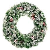 Hawthorne Prelit Christmas Wreath, Clear Lights
