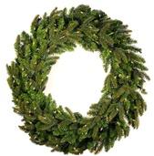 Fraser Fir Prelit Christmas Wreath, Clear Lights