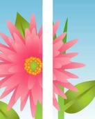 "Big Pink Flower Light Pole Banner 30"" x 84"""