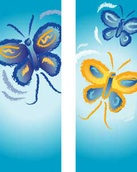 "Butterflies Double Design Light Pole Banner 30"" x 84"""